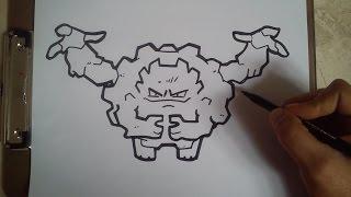 COMO DIBUJAR A GRAVELER - POKEMON / how to draw graveler - pokemon