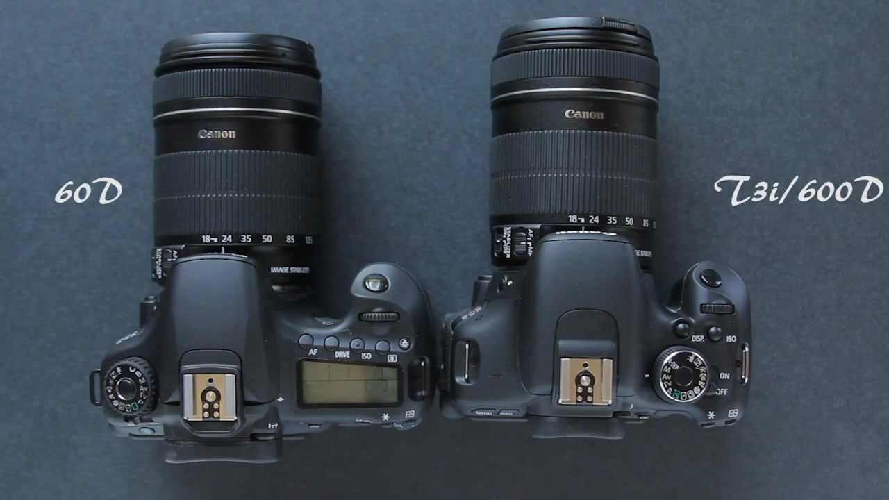 Canon EOS 1100D vs Canon EOS 600D Comparison - YouTube