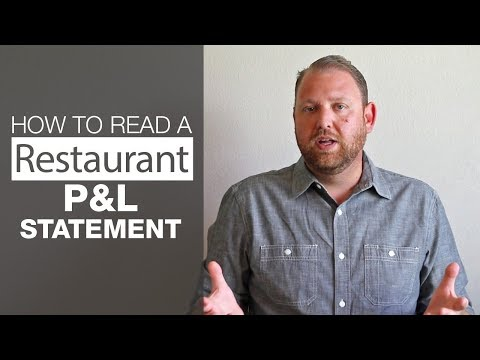How to Read a Restaurant P&L Statement