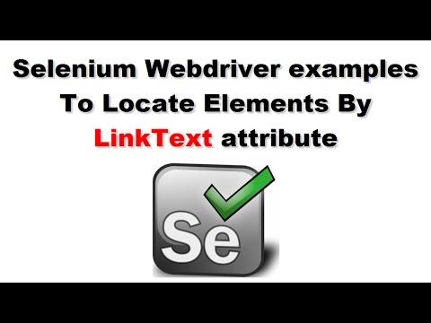 Selenium Tutorials | Selenium Script To Locate Web Element By LinkText