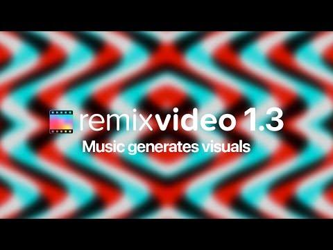 Remixvideo 1.3 - Music generates visuals