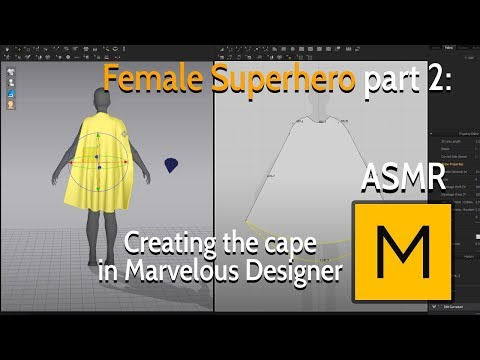 Female Superhero - Part 2: Creating the cape in Marvelous Designer