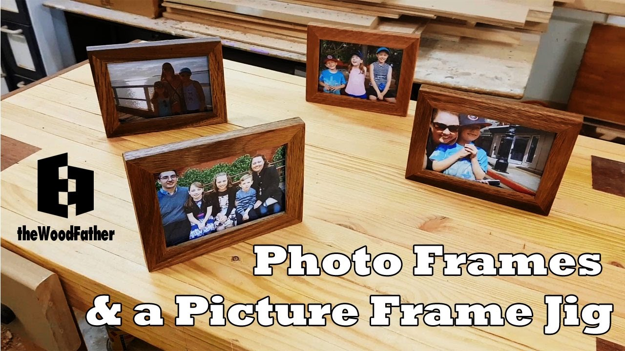 Home picture frame making jigs.