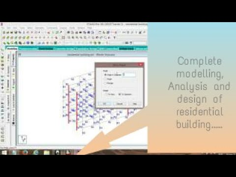 Modelling Analysis And Design Of Residential Building Using Staad Pro Software Youtube