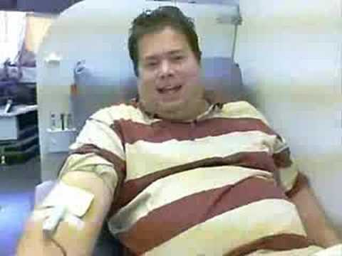 Newman Gives Blood