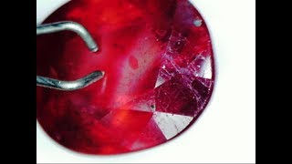 How to tell the difference between Unheated Ruby & Lead Glass Filled Ruby?
