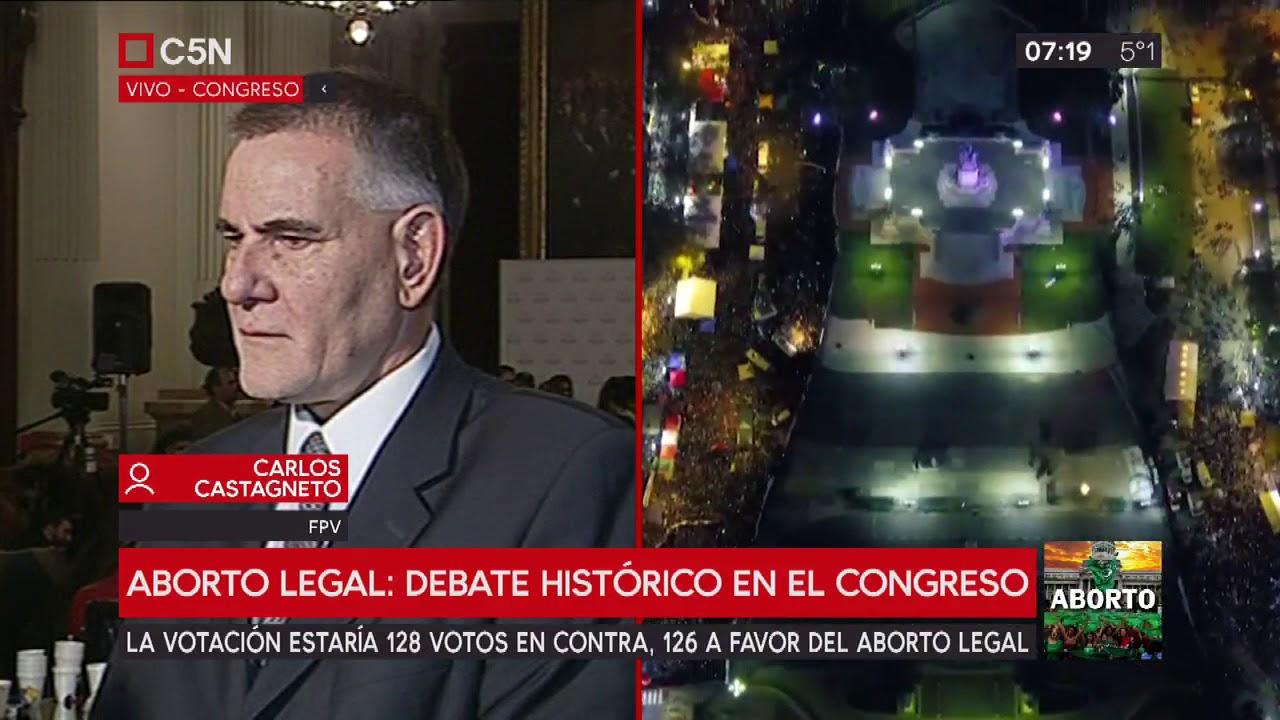 Debate aborto: Habla el diputado Carlos Castagneto