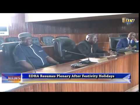 EDHA resumes Plenary after festivity holidays