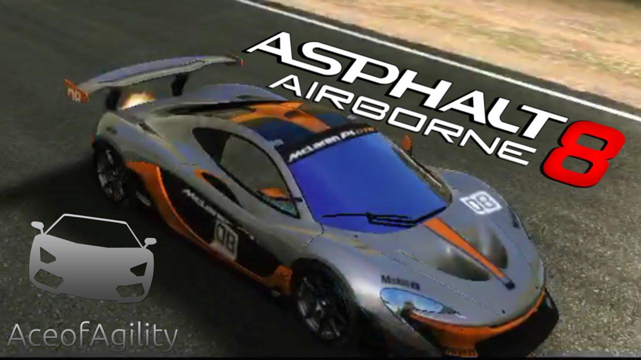 Mclaren Race Car Asphalt
