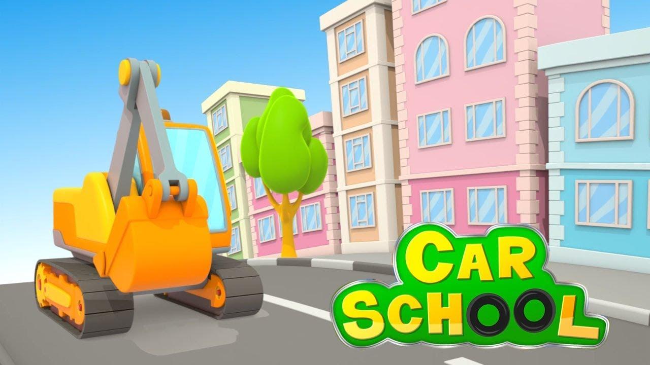 La scuola dei camion ruspe e escavatori car school