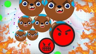 BEST DESTROYING TEAMS EVER IN AGARIO!! - Agar.io BEST Moments & INSANE Tricks