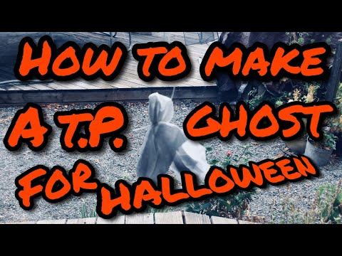How to make a toilet paper ghost For Halloween