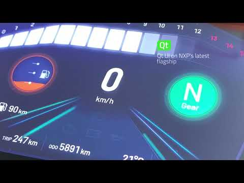 Qt for MCUs: Motorcycle Instrument Cluster on a NXP i.MX RT1170 EVK microcontroller {showcase}
