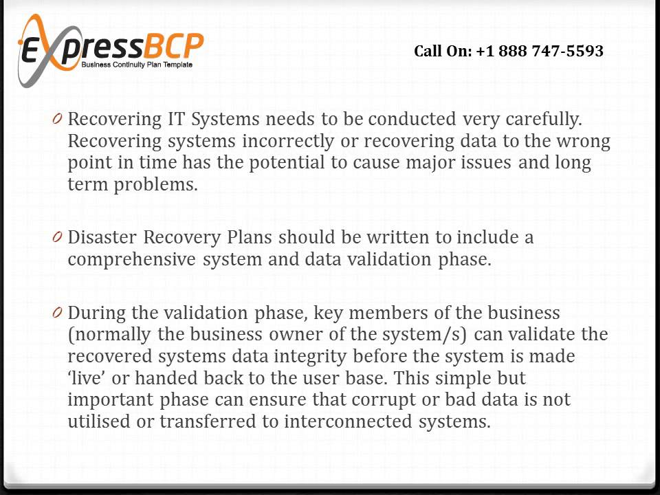 What Makes A Good Disaster Recovery Plan Template  Youtube