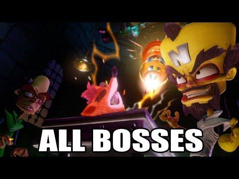 Crash Bandicoot N.Sane Trilogy - All Bosses (With Cutscenes) HD