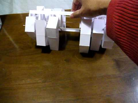 Papercraft Papercraft Kinetic Sclupture