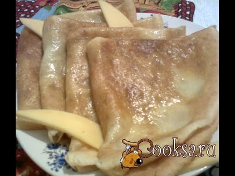 Блинчики с сыром  Пошаговый рецепт с фото