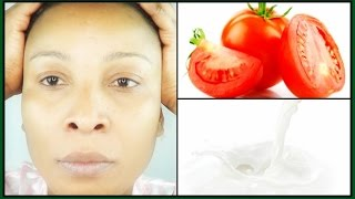 HOW TO GET GLOWING SKIN WITH MILK AND TOMATO | HOW TO LOOK YOUNGER IN 30 MINUTES | Khichi Beauty