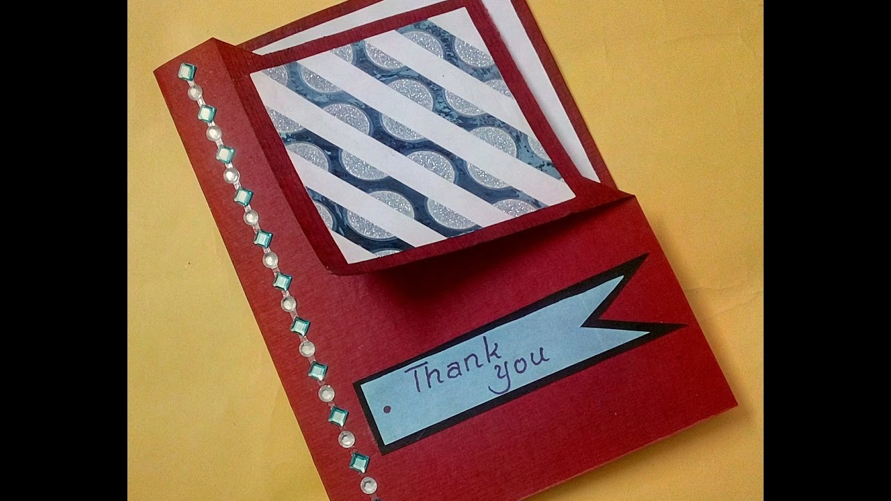 Thank You Card Making Ideas Part - 44: Easy Ideas To Make Thank You Card | Complete Tutorial