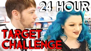 24 HOUR TARGET CHALLENGE - ATTACKED BY A CAT !!! FASHION EDITION