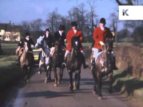 1970s UK Fox Hunt, Colour Home Movie Footage, Hunting