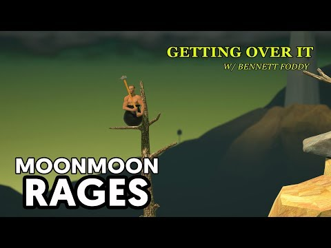 MoonMoon_OW Getting Over It Highlights Part 1 (Funny/Rage Moments)