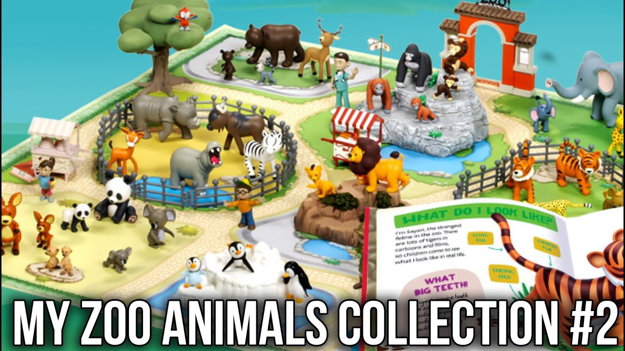 Colección De Animales De Zoológico Lindo Libro Para: My Zoo Animals Collection RBA Pt 2: Crocodile Zebra