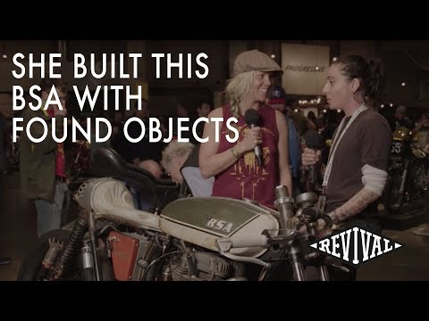 BSA Motorcycle built with found objects - An Interview with J. Shia