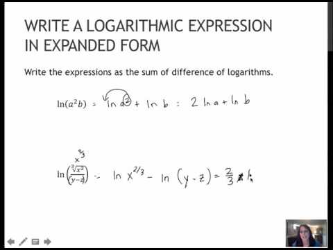 100 Write A Logarithmic Expression In Expanded Form 44 Youtube