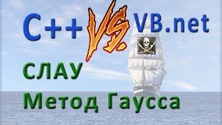 VB.net Vs С++. СЛАУ Метод Гаусса