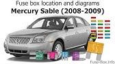 Fuse Box Location And Diagrams Mercury Montego 2005 2007 Youtube