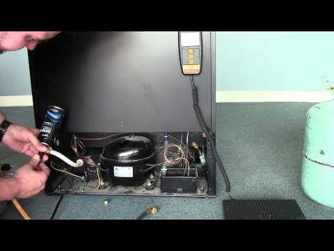 Danby Wine Cooler Repair - Recharging your wine Cooler with 134a Freon