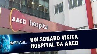 Bolsonaro visita garotinho internado em um hospital da AACD | SBT Brasil (12/10/2019)