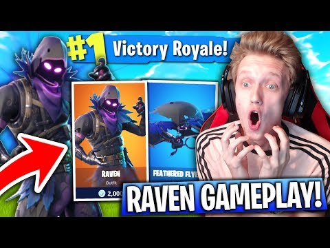 "NEW ""RAVEN"" SKIN GAMEPLAY In Fortnite: Battle Royale! (New Fortnite Skin Update)"