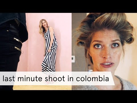 Last Minute Photoshoot in Colombia with Heide!