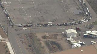 Drive-up coronavirus testing at Denver Coliseum cutoff at 200 cars