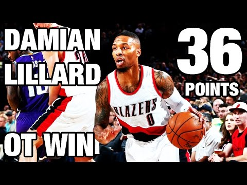 Damian Lillard 36 Points in OT Victory