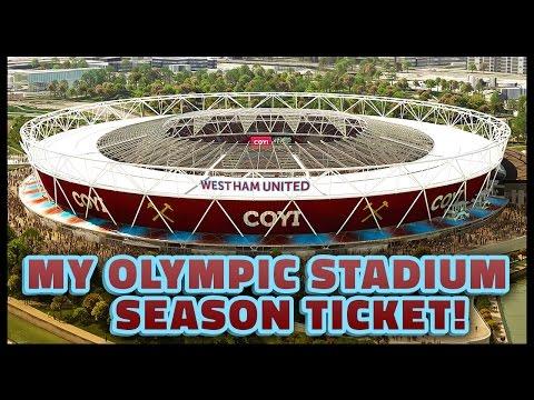 MY OLYMPIC STADIUM SEASON TICKET! WEST HAM 2016/17