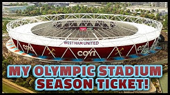 MY OLYMPIC STADIUM SEASON TICKET! WEST HAM 2016/17