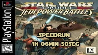 Star Wars: Episode I Jedi Power Battles Speedrun Easy Any% PlayStation 1h 06min 50seg