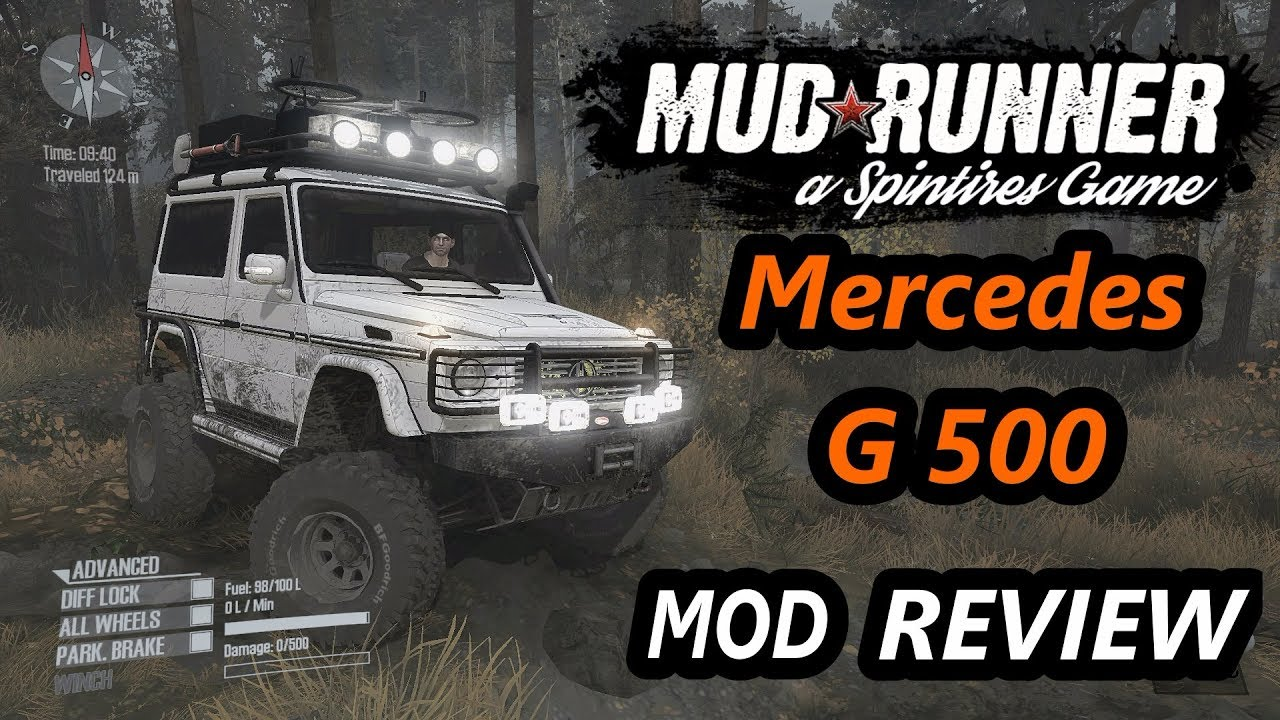 spintires mudrunner mods mercedes g500 tourist version. Black Bedroom Furniture Sets. Home Design Ideas