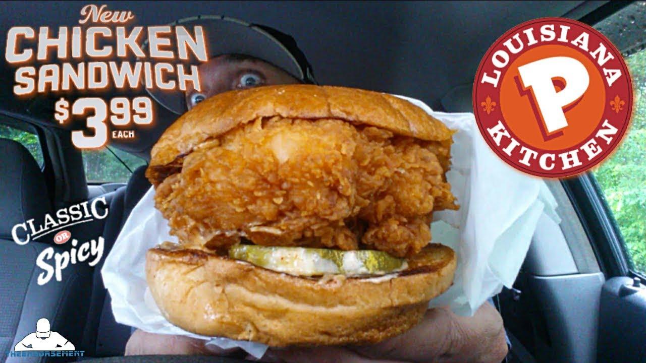 popeyes chicken sandwich Popeyes® Spicy Chicken Sandwich Review! 🔥🐔 - YouTube