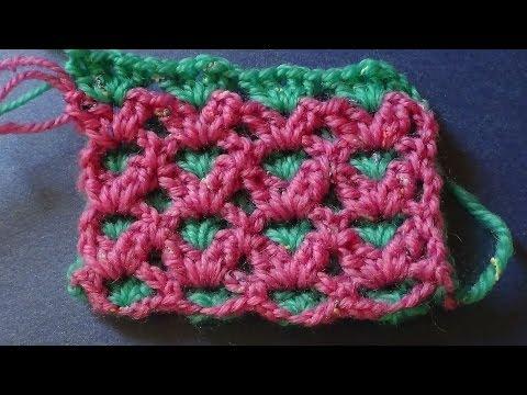 Узор двухцветный вязания крючком