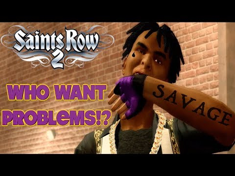 """NO GANG WANTS PROBLEMS! ( FUNNY """"SAINTS ROW 2"""" GAMEPLAY #12)"""