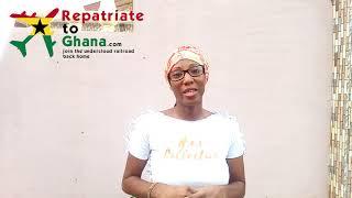 Afia Khalia's RepatriateToGhana.com Testimonial