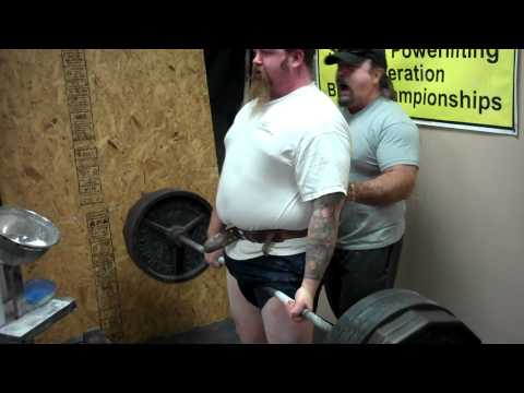 Me pulling 495 a week out from the meet.