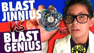Beyblade Burst - Blast Jinnius vs Blast Genius!  New Beyblade Burst Battle & Unboxing!