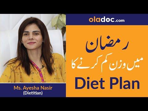 Ramadan Weight Loss Diet in Urdu/Hindi | Ramzan Men Wazan Kam Karne Ka Tarika | Dietitian Advice