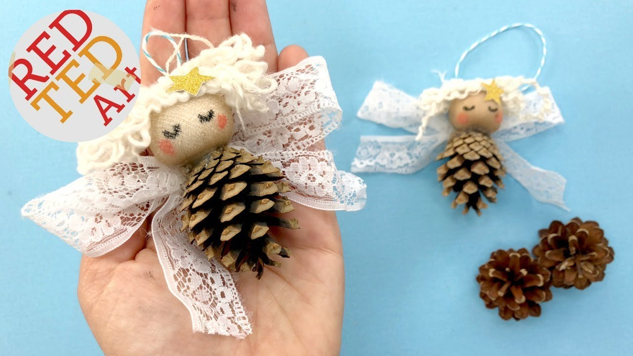 Pine Cone Angel Ornaments Diy Nature Christmas Decorations Youtube