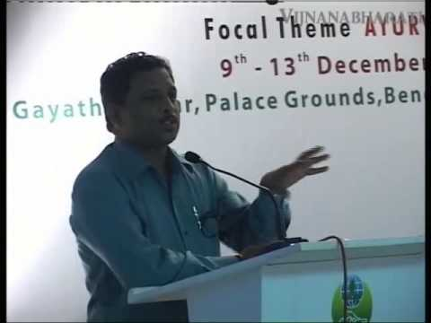 Drug Research In Ayurveda - Speech Delivered By Dr.Madhava Digavi